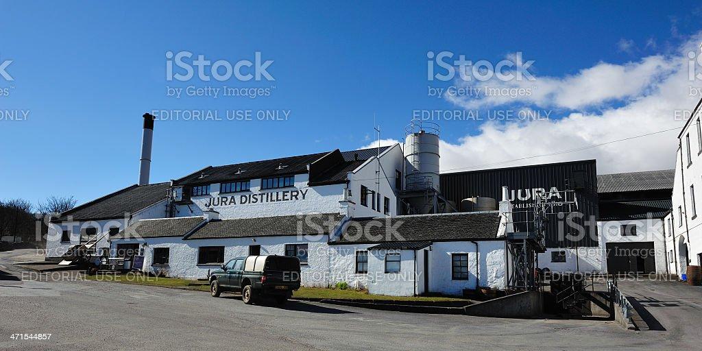 Jura Distillery stock photo