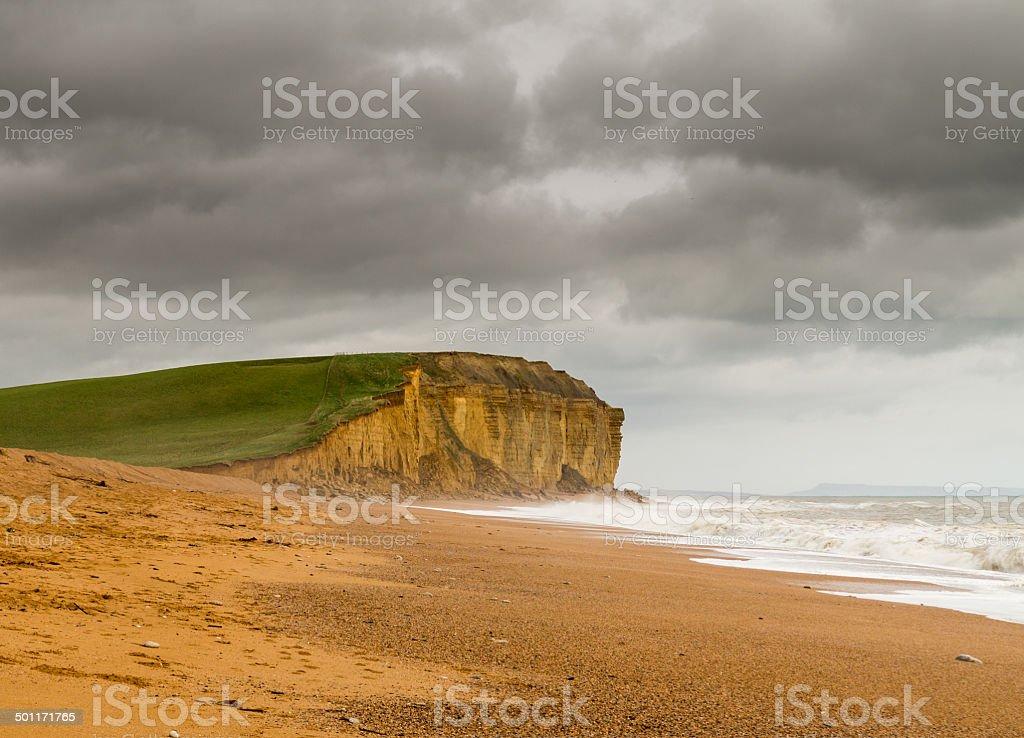 Jurassic Cliffs at West Bay Dorset in UK stock photo