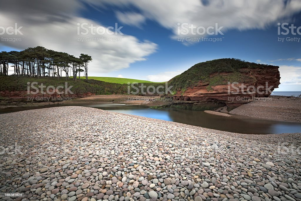 Jurassic Coast:  Otter Head, Budleigh Salterton, Devon stock photo