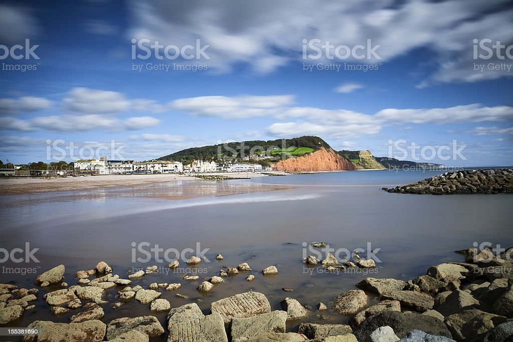 Jurassic Coast:  Sidmouth, Devon stock photo