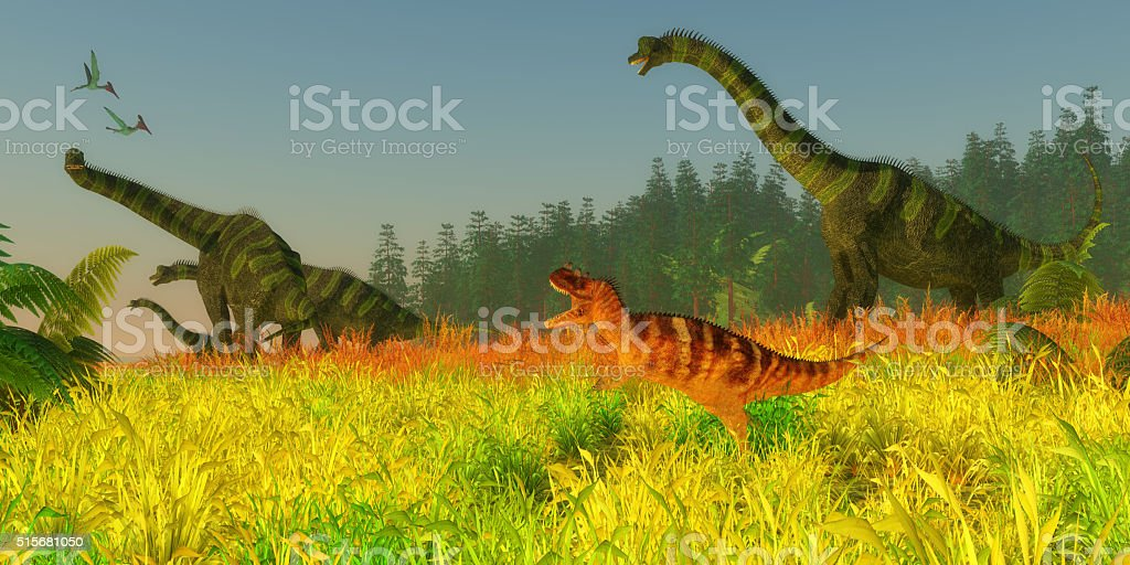 Jurassic Coastal Redwood Forest stock photo