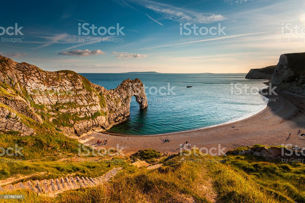 Jurassic Coastline around Durdle Door stock photo