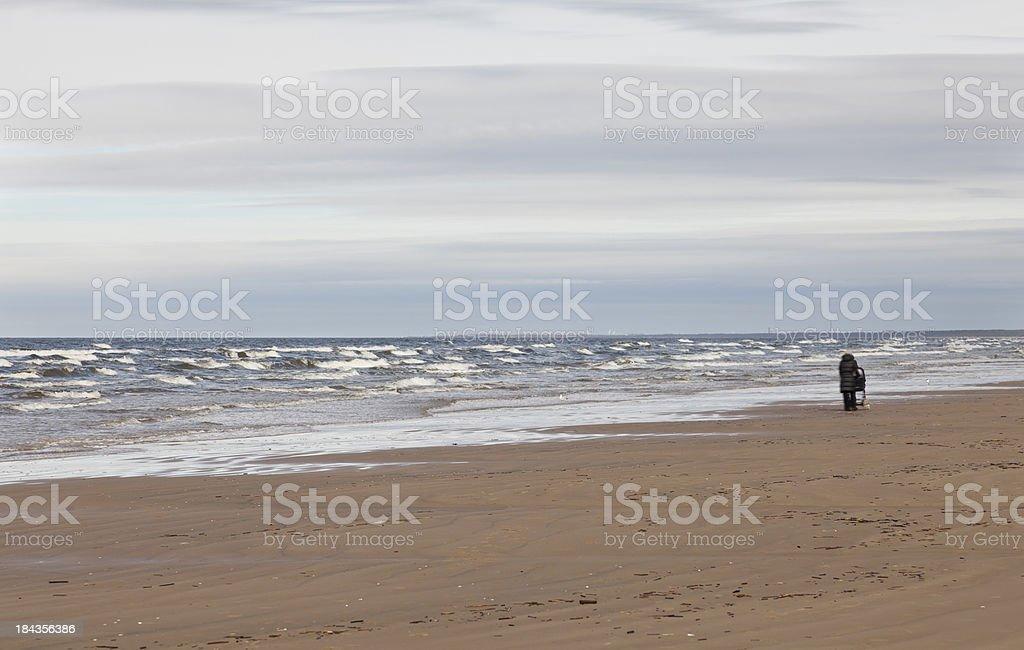 Jurmala beach, Latvia royalty-free stock photo