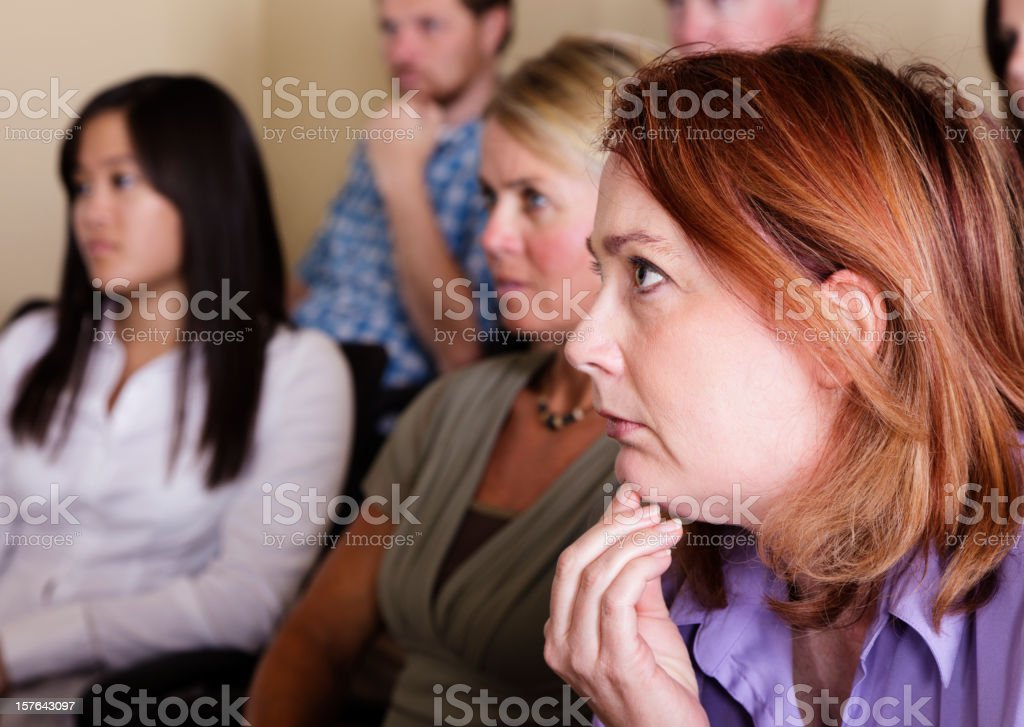 Jurors in a Courtroom stock photo