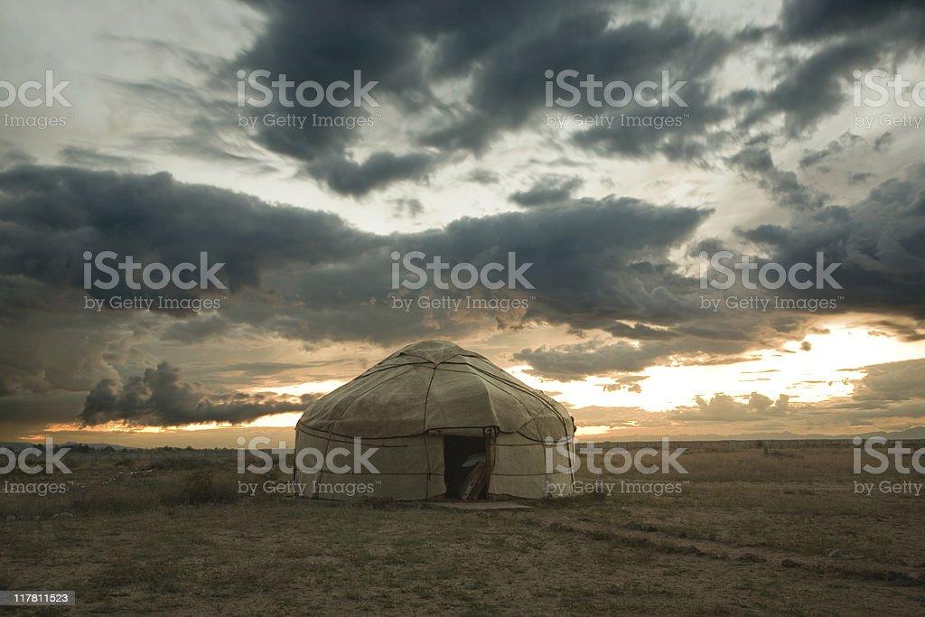 jurt yurta royalty-free stock photo