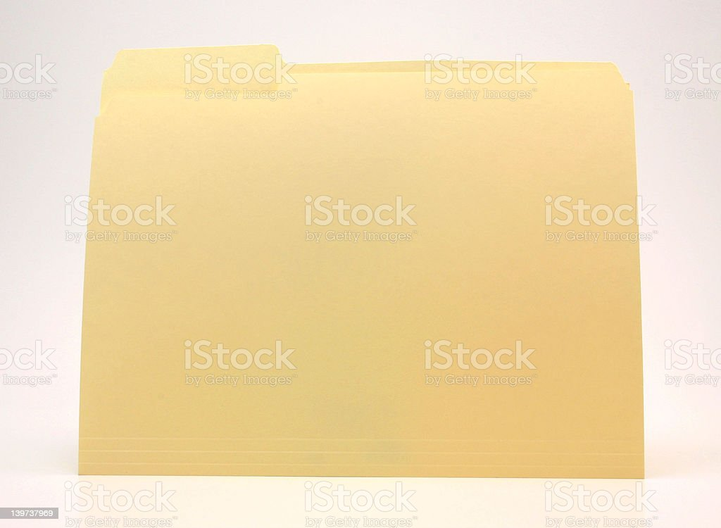Just a Folder royalty-free stock photo