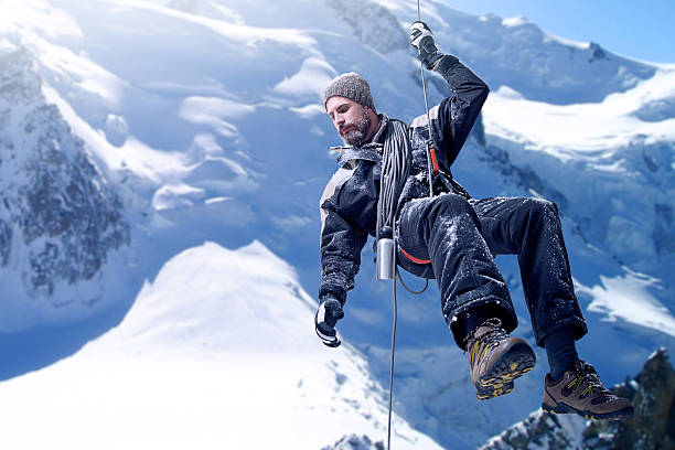 just a little further... - extreme sports stock photos and pictures