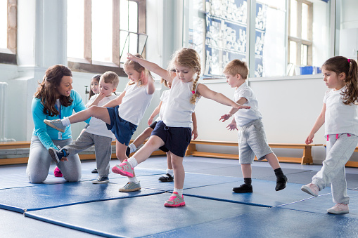 physical education stock photos