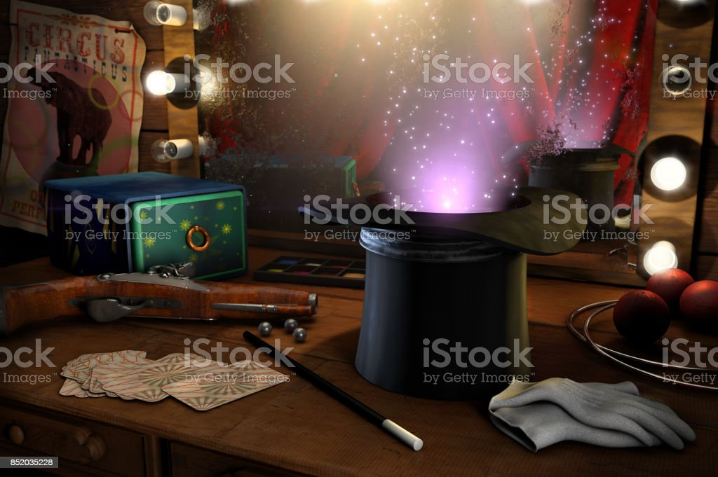 Just a little magic stock photo