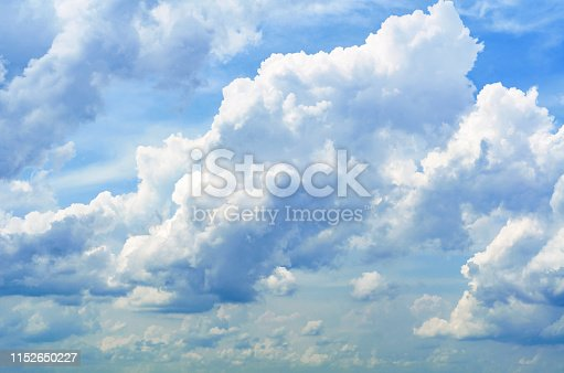 istock Just a photograph of white clouds in the blue sky. 1152650227