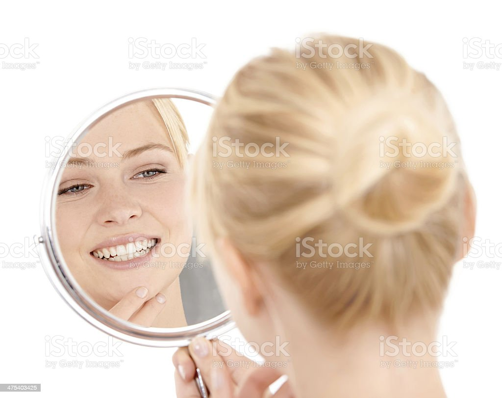 Just a quick skin examination... stock photo