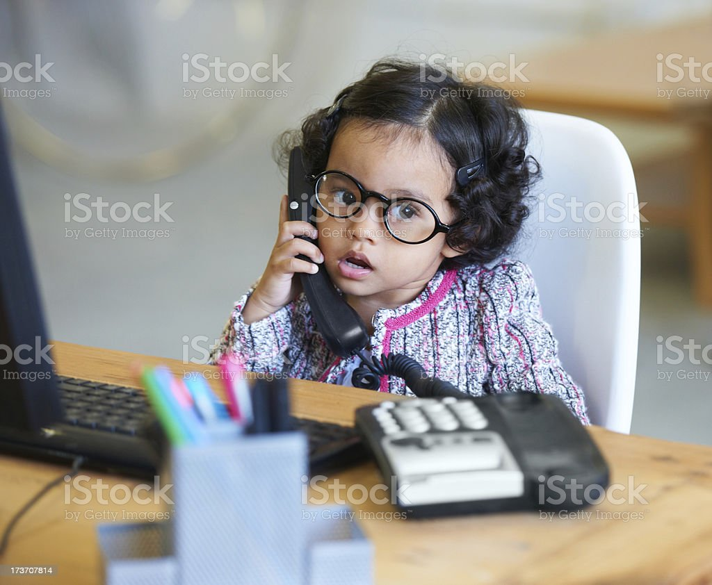 Just a regular day at the office stock photo