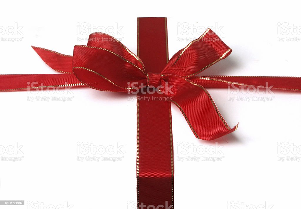 just a ribbon... straight on royalty-free stock photo