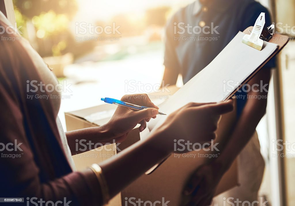 Just a signature and you're good to go stock photo