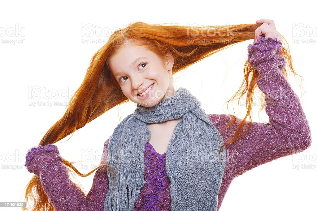 Just about being red-haired teen girl! royalty-free stock photo