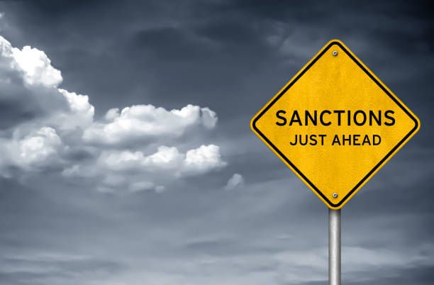 SANCTIONS - just ahead SANCTIONS - just ahead sanctions stock pictures, royalty-free photos & images