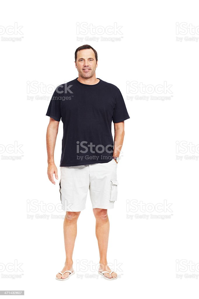 Just an ordinary guy! stock photo