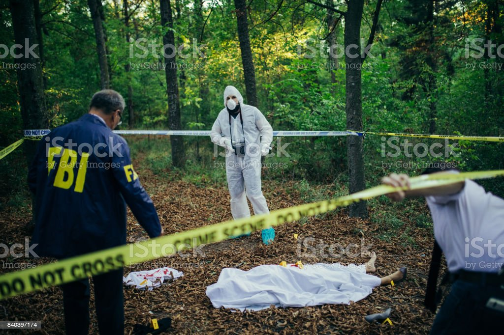 FBI just arrived stock photo