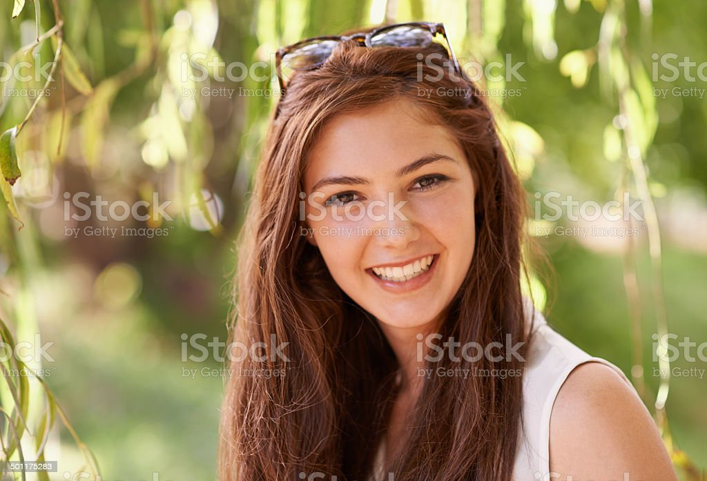 Just be natural stock photo