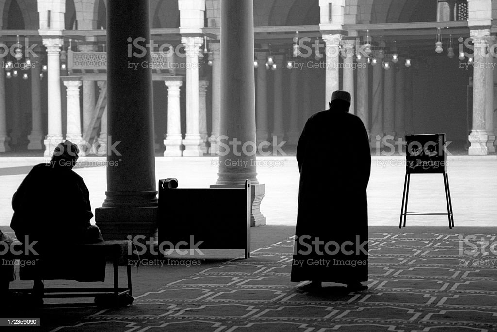 Just before afternoon prayers in a mosque in Cairo, Egypt. royalty-free stock photo