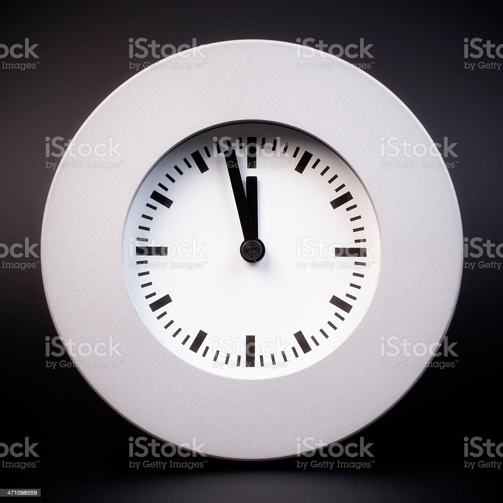 Just before deadline (clipping path) royalty-free stock photo