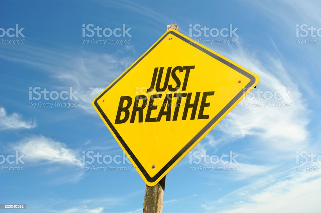 Just Breathe - foto stock