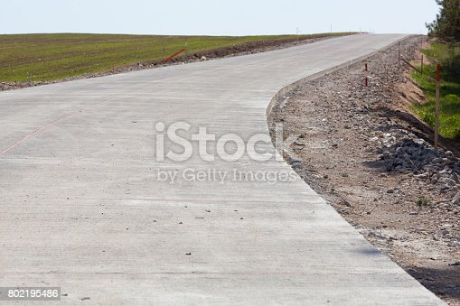 The newly constructed road that goes far beyond the horizon.