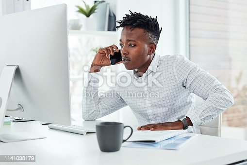 936117940 istock photo I just called to check up on something... 1141038179