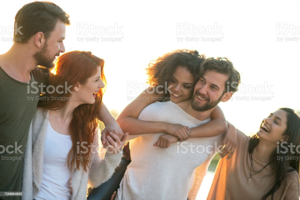 Just chilling. stock photo