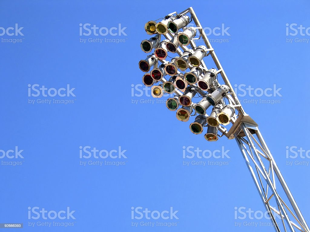Just choose wich colour you want to light :-) royalty-free stock photo