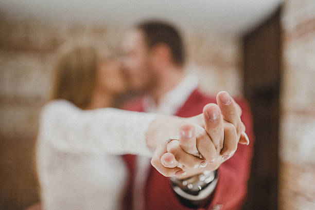 just engaged - diamond ring hand stock pictures, royalty-free photos & images