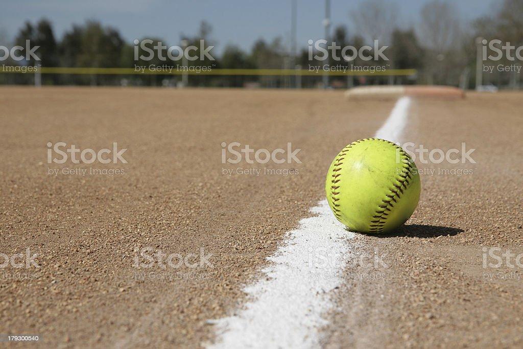Just Fair or Foul Ball stock photo