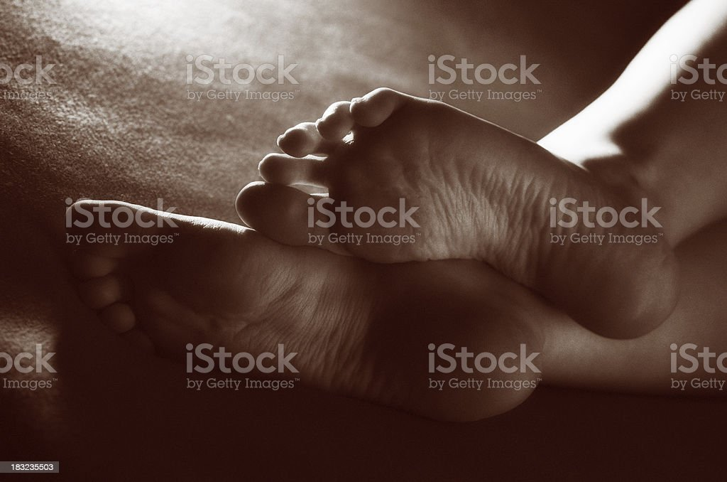 Just feet royalty-free stock photo