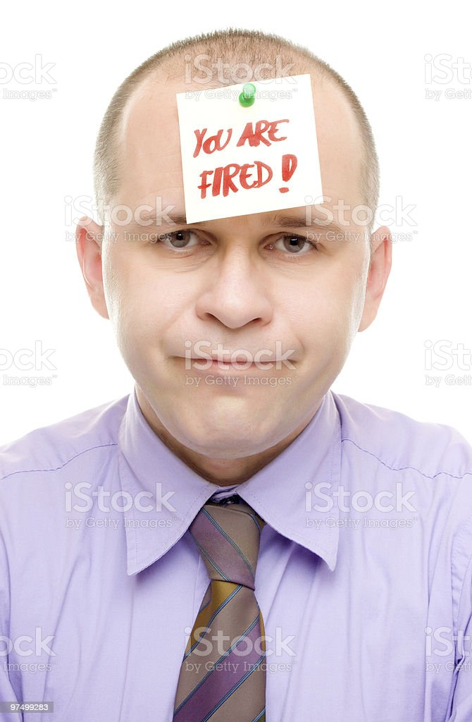 Just fired! royalty-free stock photo