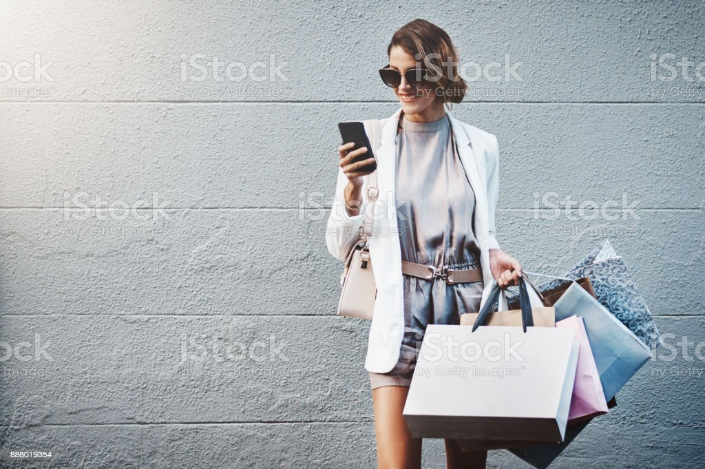 I just found a shopping sale close by stock photo