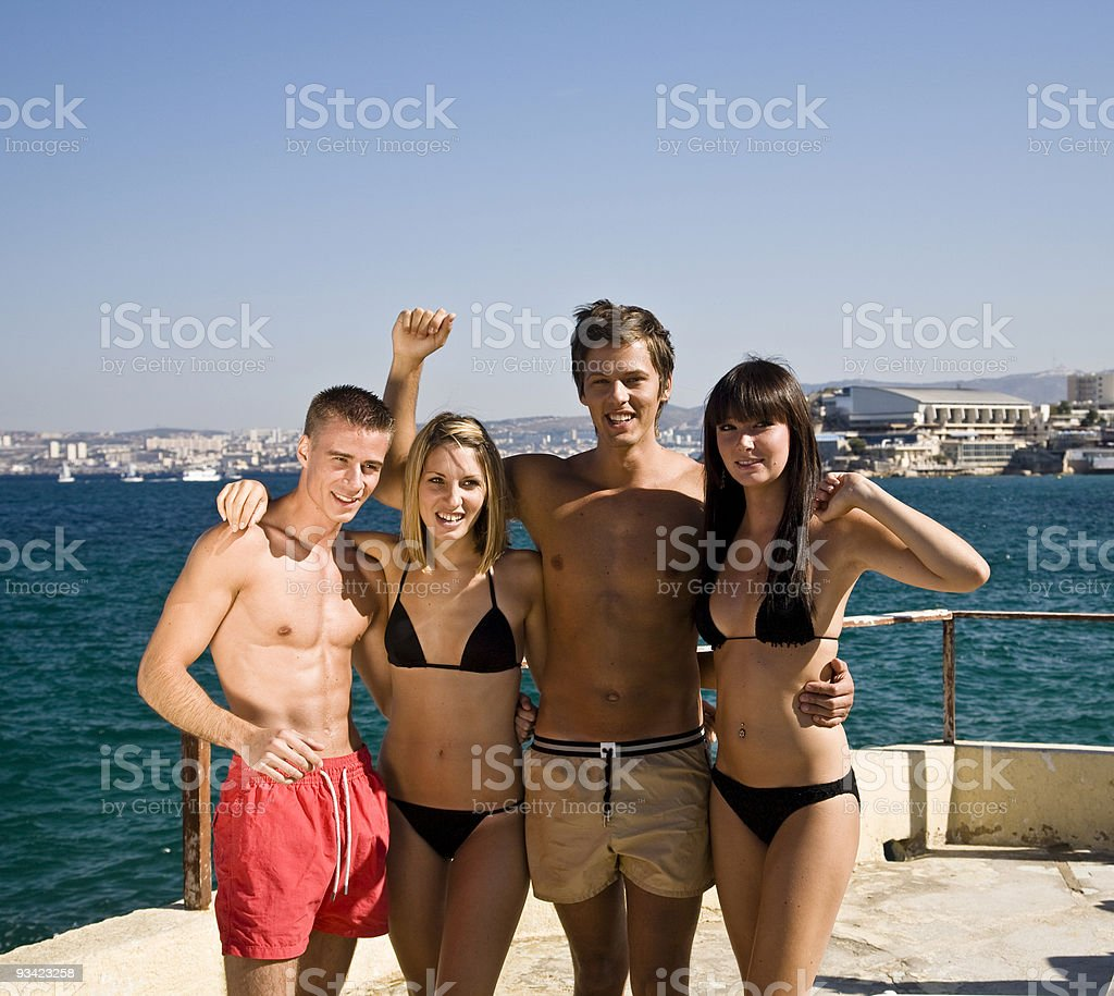 just friends royalty-free stock photo