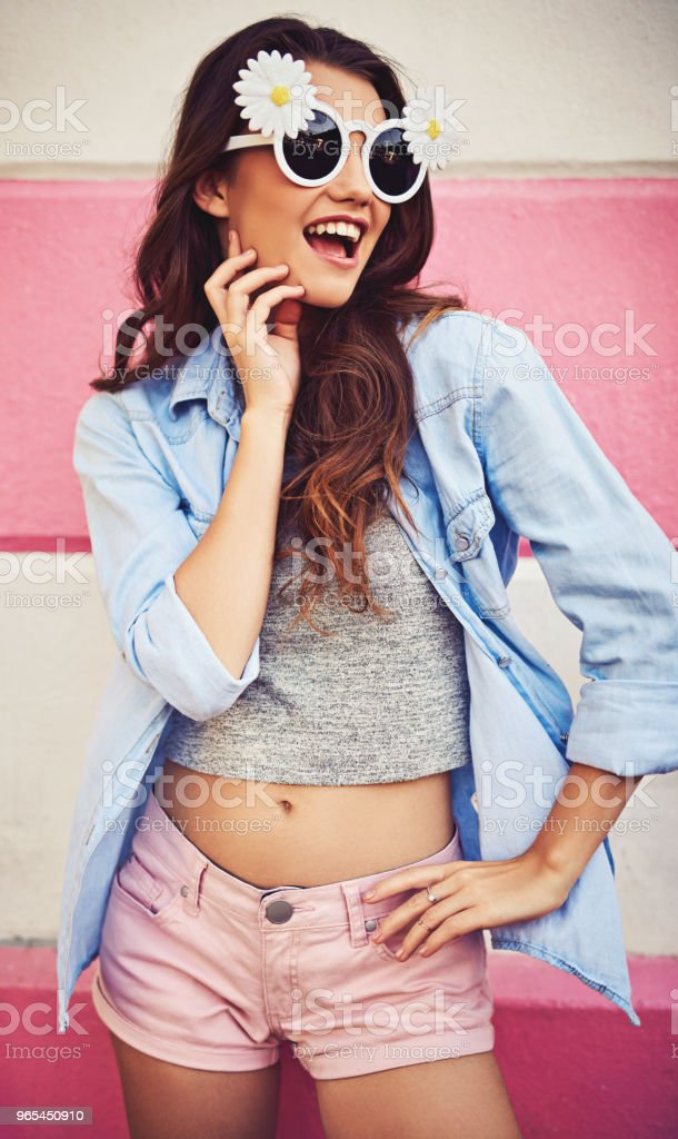 Just going with the flow of loving life royalty-free stock photo