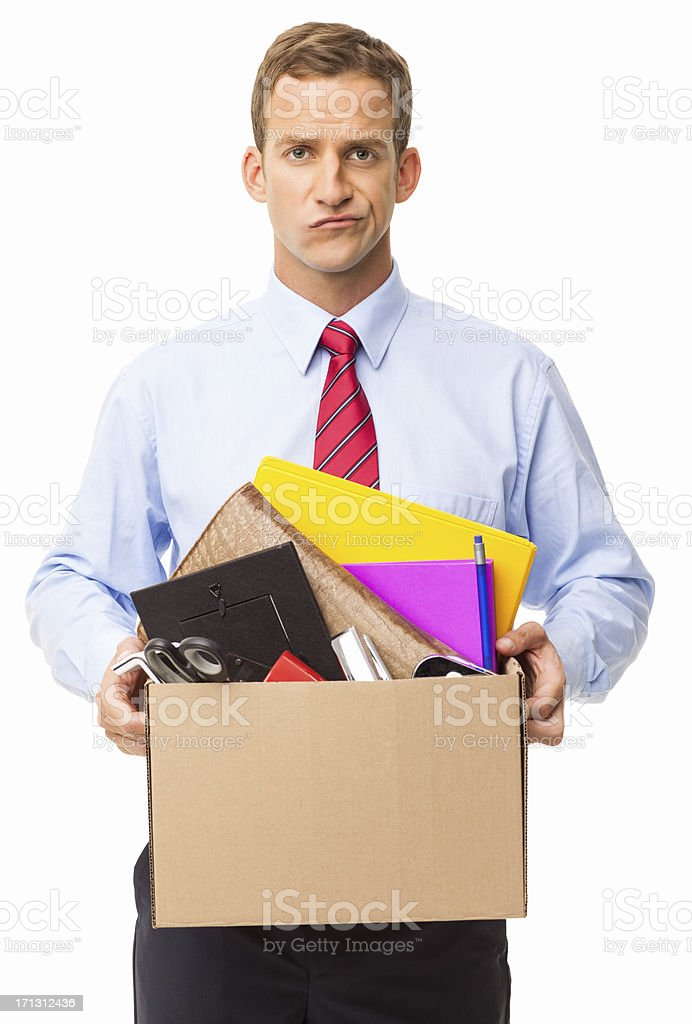 Just Got Fired - Isolated stock photo