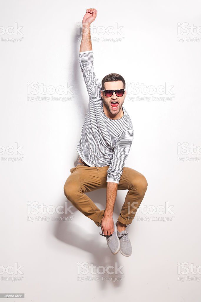 Just having fun. stock photo