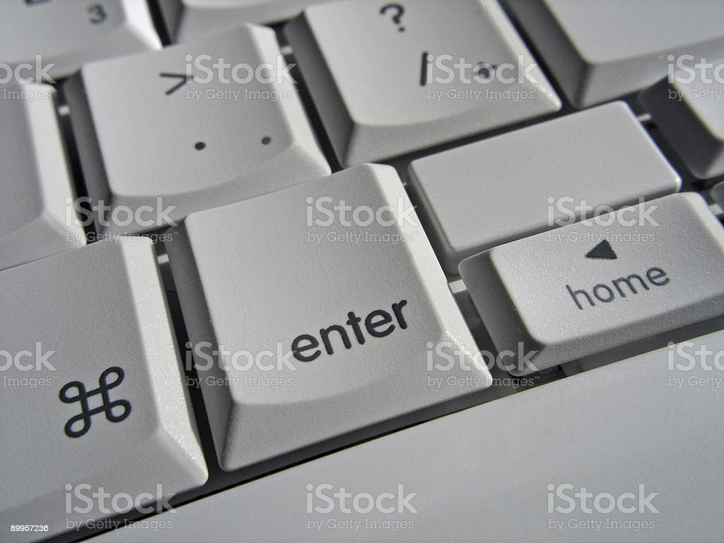 Just Hit Enter royalty-free stock photo