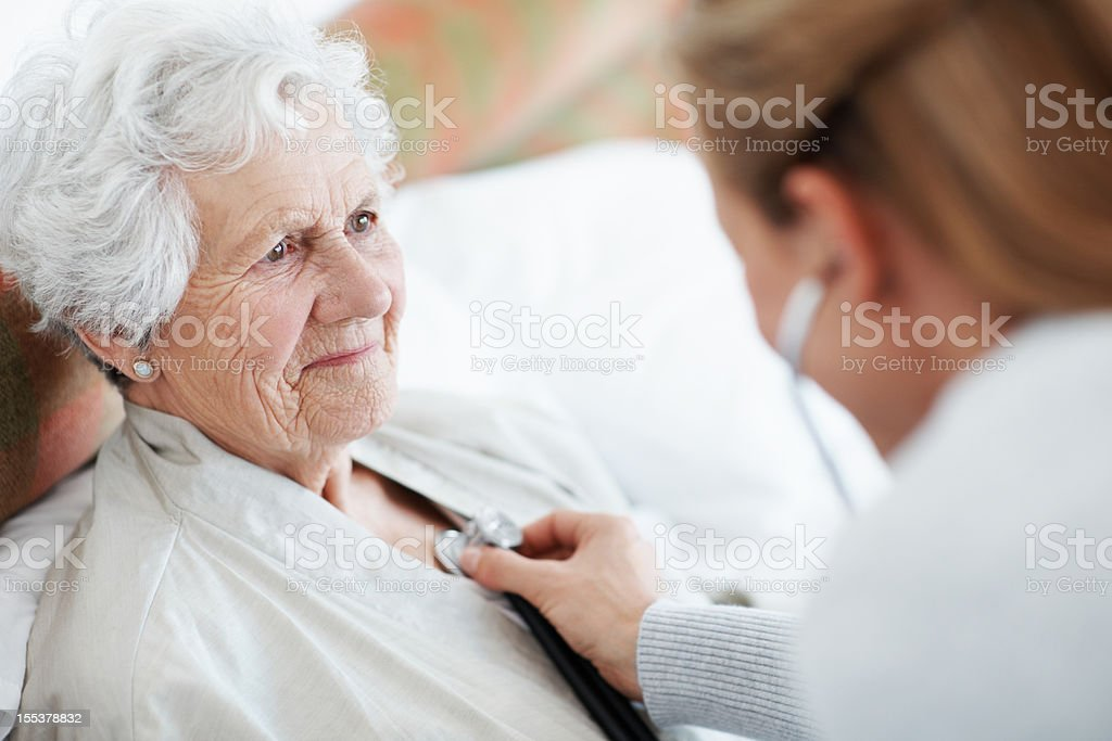 Just knowing I'm cared for makes me feel stronger stock photo