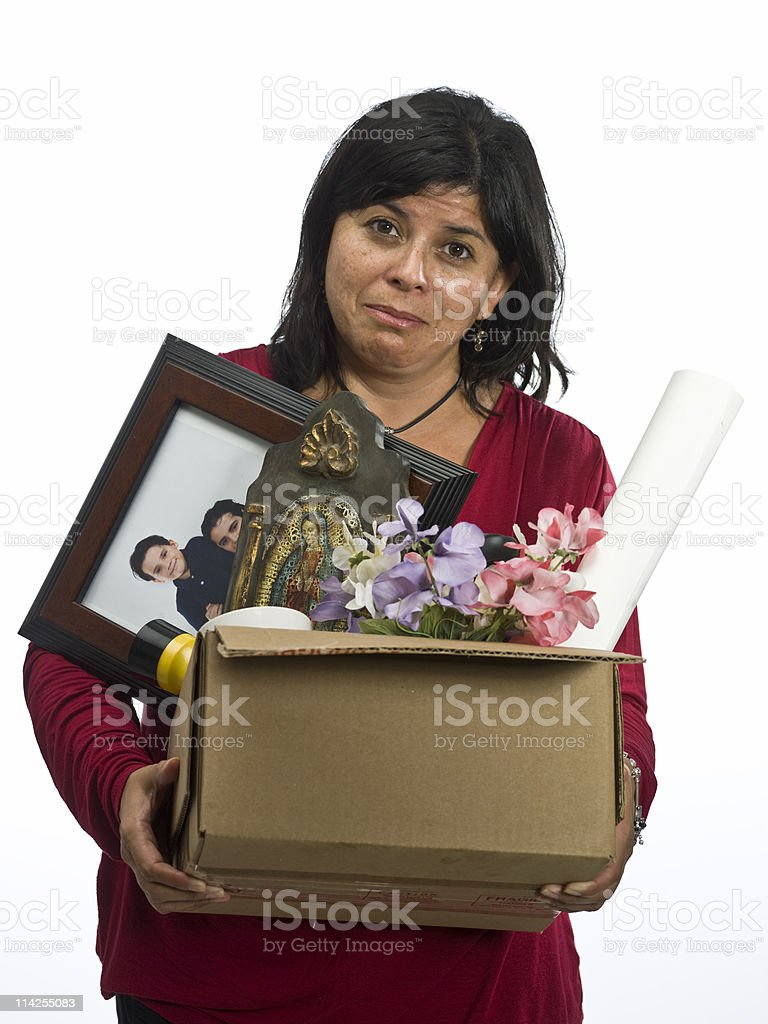 Just laid off stock photo