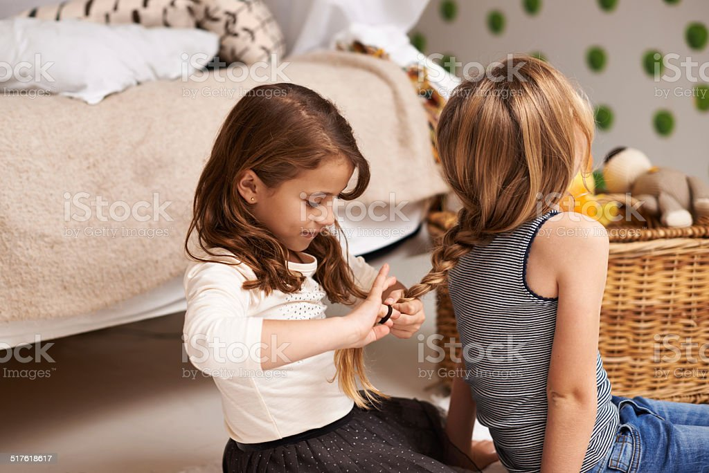 Just like mom does it! stock photo