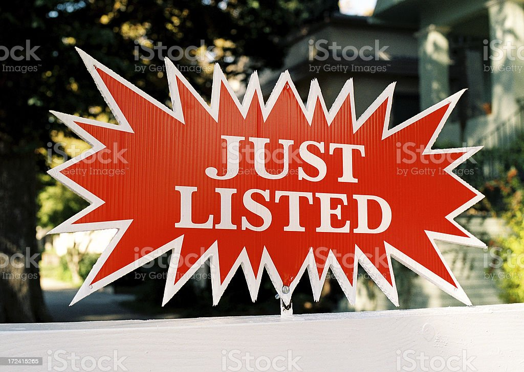 Just listed California real estate sign royalty-free stock photo