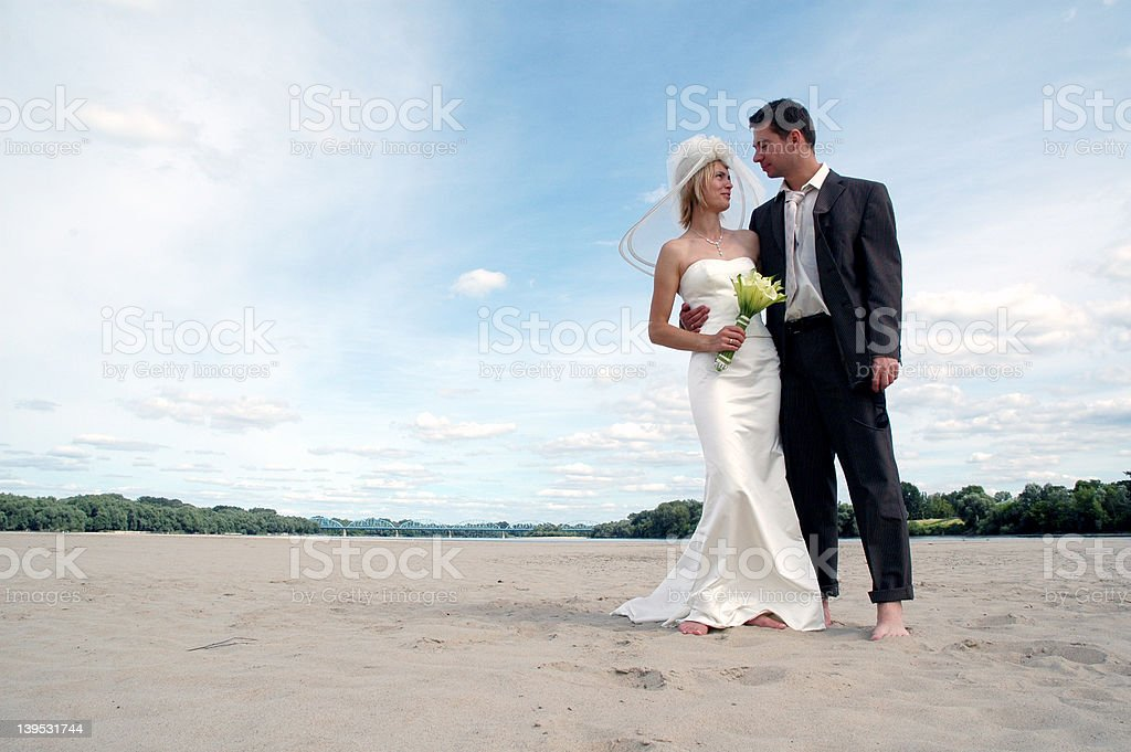 just married 2 royalty-free stock photo