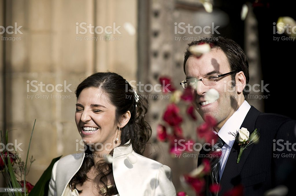 Just married couple royalty-free stock photo