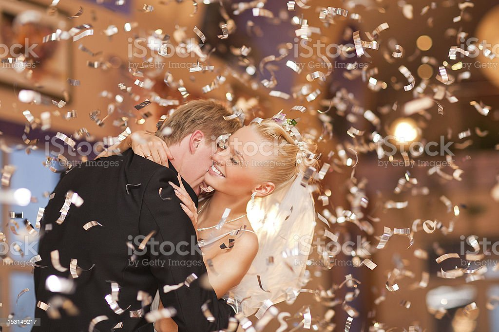 just married couple stock photo