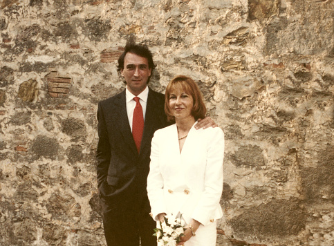 Young couple just married in 1968