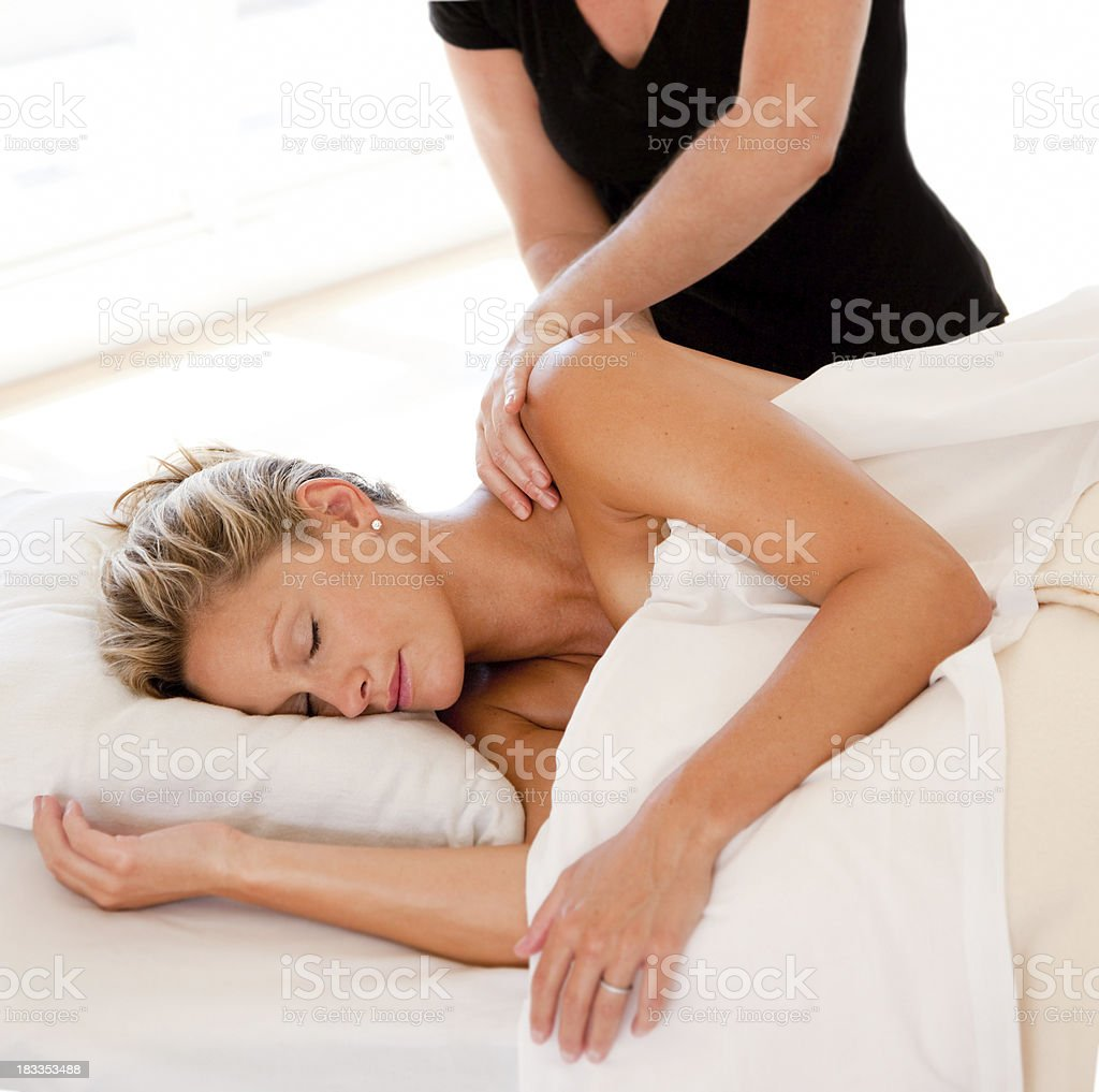 Just Married Massage royalty-free stock photo
