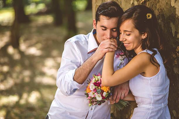 Recién casados  - foto de stock